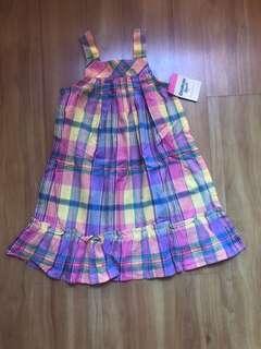 🚚 Osh Gosh OKBG Girls checkered dress BNWT