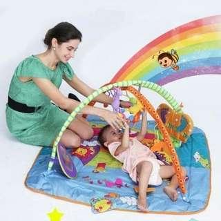 美國Tiny Love多功能 BB遊戲毯 音樂盒 有音樂支架 遊戲墊 健身架 玩具 粉紅 藍色 $399包快遞