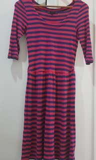 Cache stripes dress