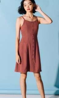 Fashmob Kilda Pocket Dress in Rosewood