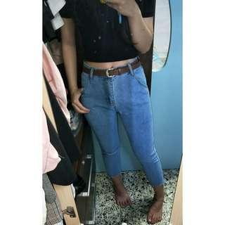 🚚 BNWT light denim knee slit jeans