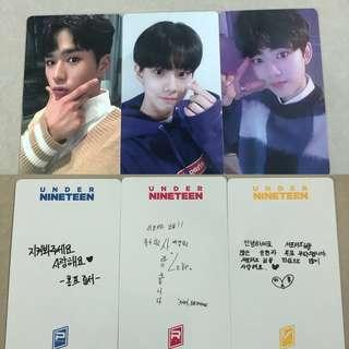 [WTS] UNDER NINETEEN U19 Official Photocards