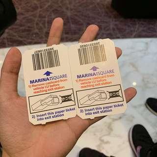 🚚 Marina Square carpark coupons