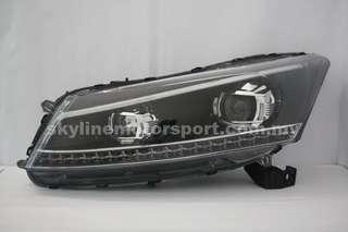 Honda Accord 08-12 Projector Head Lamp Led Light Bar With Signal Light Runing