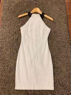 Zara Cut In White Dress