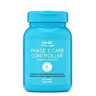 旺角門市 🌳2019年新版💥阻隔澱粉💥瘦身塑型💥GNC TOTAL LEAN™PHASE 2 CARB CONTROLLER® (卡路里控制配方) 120粒