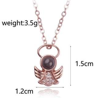🚚 100 Love Languages Quality Angel Pendant Necklace