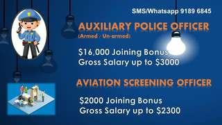 Auxiliary police officer or Aviation screening officer