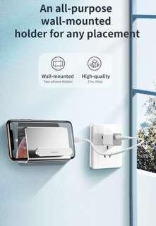 黏貼式/上牆/手機安放/充電金屬支架