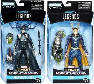 Marvel Legends Hela and Loki