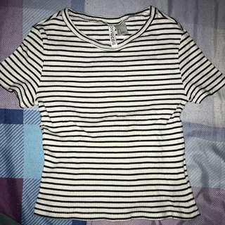 H&M Cropped Ribbed Top