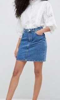 LEE: blue denim skirt
