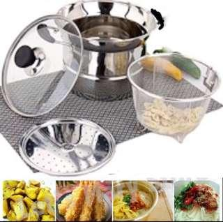 Steam & Frying Cooking Pot