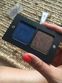 INGLOT eyeshadow essentials - navy and brown