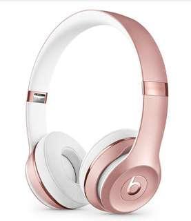 Beats Solo3 Wireless Headphone (Rose Gold)