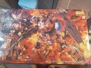 MG 1/100 Rx-0 unicorn gundam + ms mage 獨角獸高達+收納庫整備架