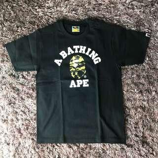 Bape Yellow First Camo College Tee