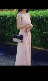 Pastel long gown for rent