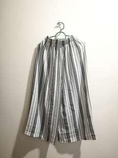 Korean stripes culottes white