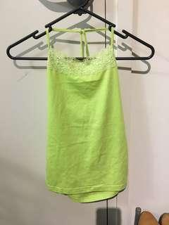 Green singlet with lace (new)