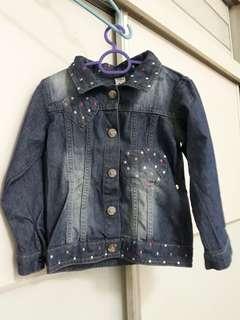 Kids Heart Denim Jacket NEW