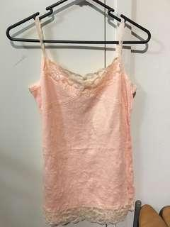 Pale pink lace singlet (new with tag)