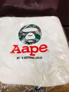 Aape by Bathing Ape tote bag white canvas