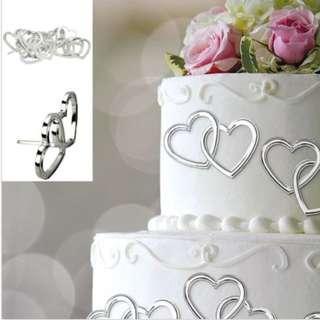 Wedding Hearts Cake Decoration