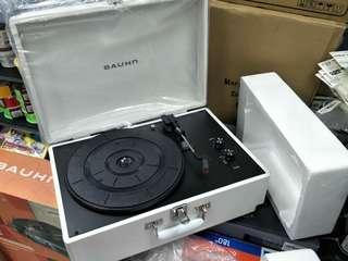 Bauhn White Vinyl Portable Record Player Turntable