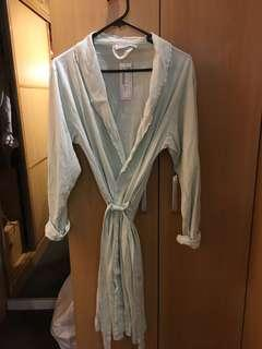 Zara Home pale blue dressing robe (new with tag)