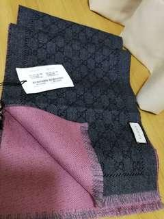 Bnwt Authentic Gucci Reversible Scarf