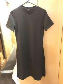 Black crew neck short sleeve dress (new with tag)