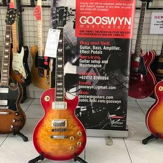 USED 2001 GIBSON USA LES PAUL STANDARD PLUS HERITAGE CHERRY FLAME TOP