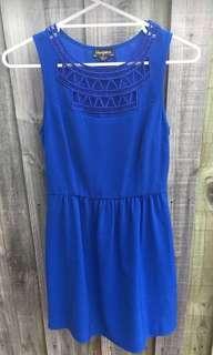Blue juice cocktail dress