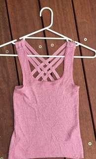 Sparkly pink festival top