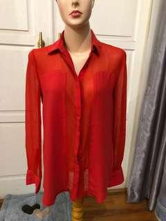 Kemeja Merah sexy #mango