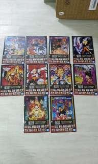 Dragonball dragon ball ichiban kuji the 20th film full set of 10 files