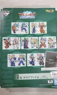 Dragonball dragon ball ichiban kuji ultimate evolutions prize I  full set of 7 files excluding secret