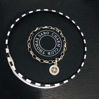 Thomas Sabo Sterling Silver Charm Bracelet with real diamonds
