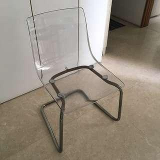 🚚 Dining Chars with Acrylic Seat (2 pcs)