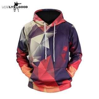 3D Printed Geometric Men Hoodies Sweatshirt Streetwear