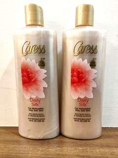 Sale Caress Daily Silk Body Wash Orange Blossom White Peach