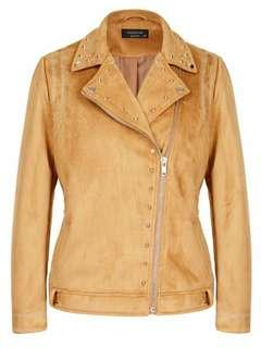 Crossroad suede faux leather jacket