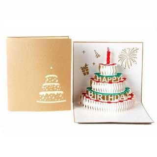 Happy Birthday Cake Wishing Card 3D