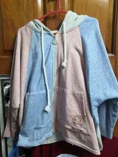 Jacket pink blue grey