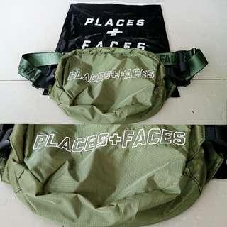 New original waist bag places+faces green