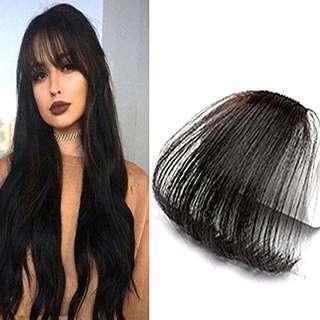 Human Hair Bangs - Black