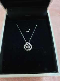 🚚 GOLDHEART real Diamond necklace 14k white gold