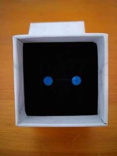 🚚 土耳其藍 水晶耳針