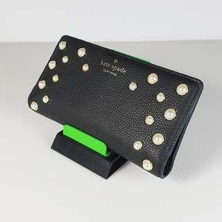 Clearance Sale! Kate Spade New York Serrano Place Pearl Stacy Wallet Black